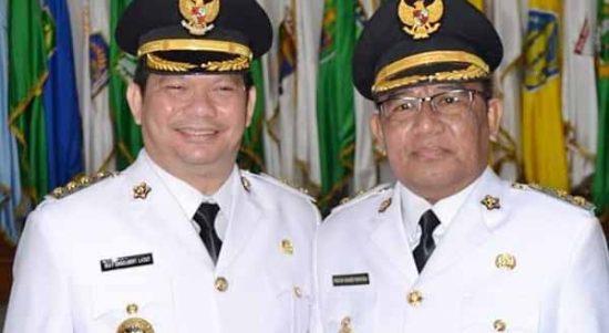 >> Bupati Talaud Elly Engelbert Lasut dan Wakil Bupati Moktar Arunde Parapaga.