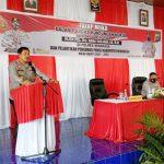 >> Kapolda ketika melakukan pertemuan di Polres Minahasa.