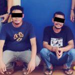 >> Dua Pelaku saat diamankan di Mapolresta Manado.