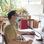 >> Walikota Caroll Senduk, saat memimpin KUA-PPAS, secara virtual.