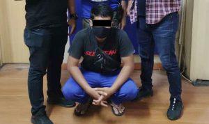 >> Tim Paniki Rimbas lll Polresta Manado saat mengamankan pelaku.